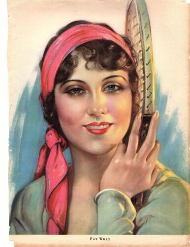 *Fay Wray Motion Picture Magazine ARTIST PROOF NO. 2 on Pastel Finished Paper