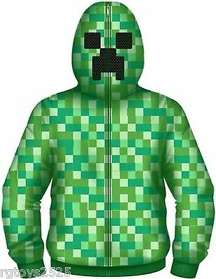 Minecraft JINX Creeper Hoodie 4 5 6 7 8 10 12 14 16 Childs Sweatshirt Jacket New