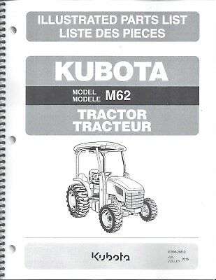 Kubota M62 Tractor Illustrated Parts Manual 97898-26810