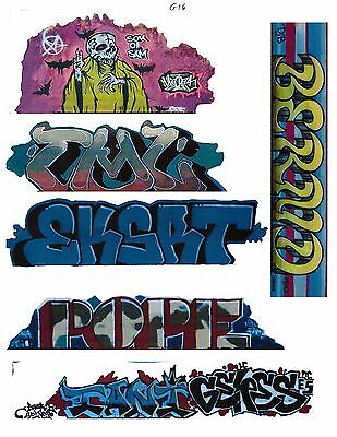 G SCALE GRAFFITI DECALS G16 FROM REAL GRAFFITI PHOTOS