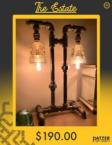 Hand Crafted Pipe Lamps
