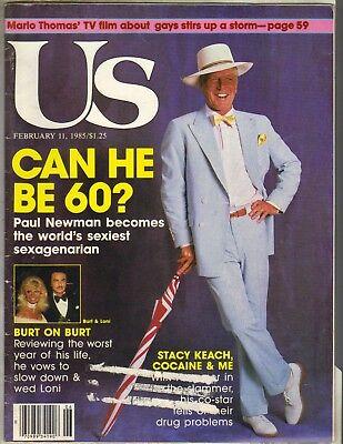 Paul Newman Us Magazine 2 11 85 Burt Reynolds Loni Anderson Michael Jordan