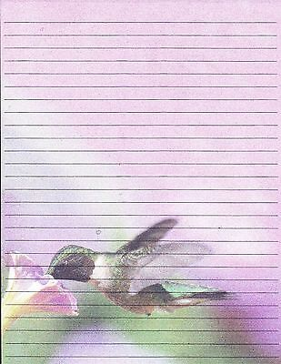 Hummingbird Design Lined Stationery Set, with 25 sheets and 10 envelopes