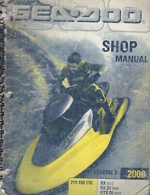 2000 SEA-DOO WATERCRAFT VOLUME 2  SERVICE SHOP MANUAL 219 100 110 (538)