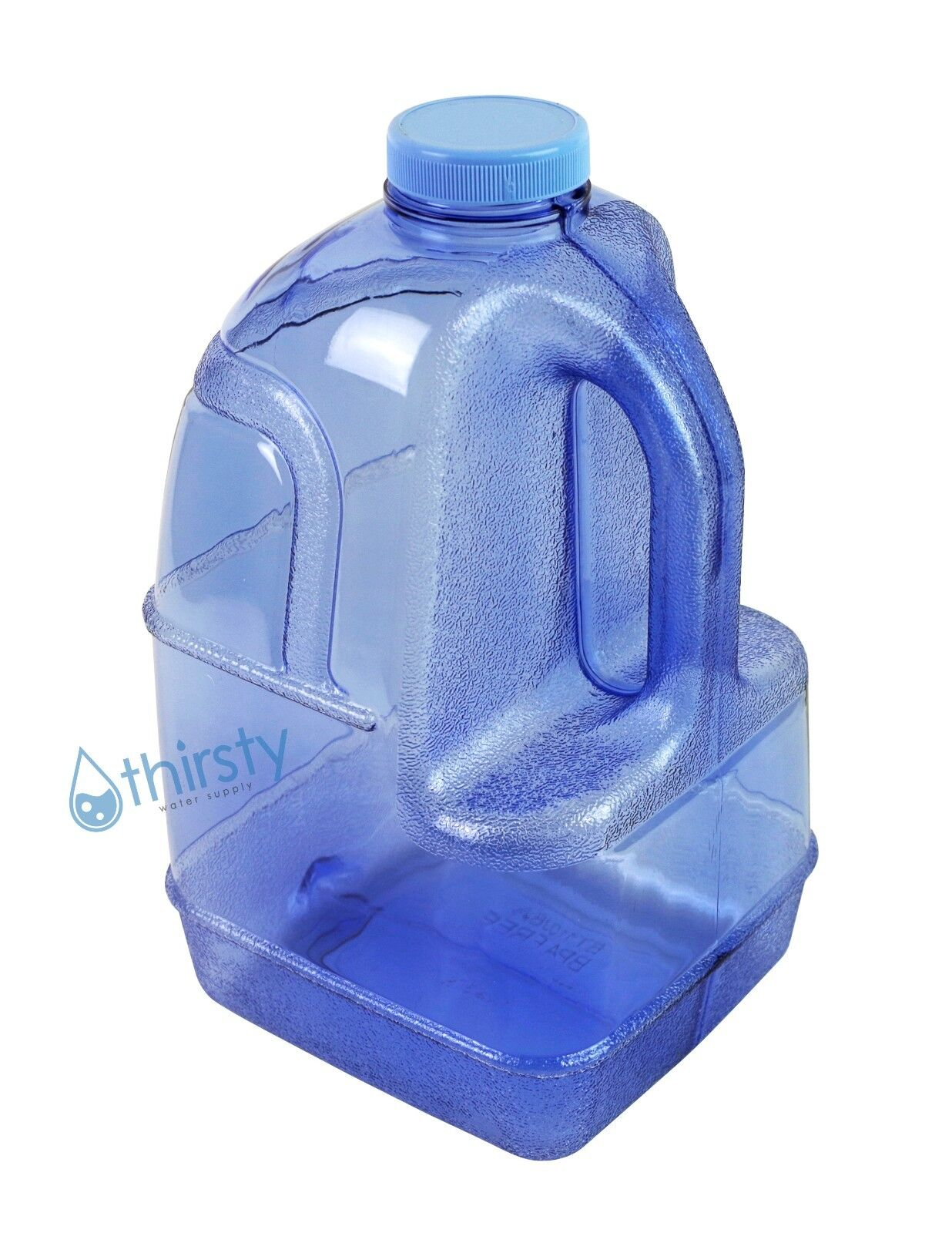 Blue 1 Gallon Plastic Water Bottle BPA Free Jug Container