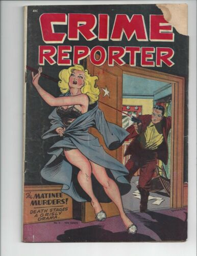 CRIME REPORTER #2 Matt Baker cover. Classic Golden age cover used in SOTI.