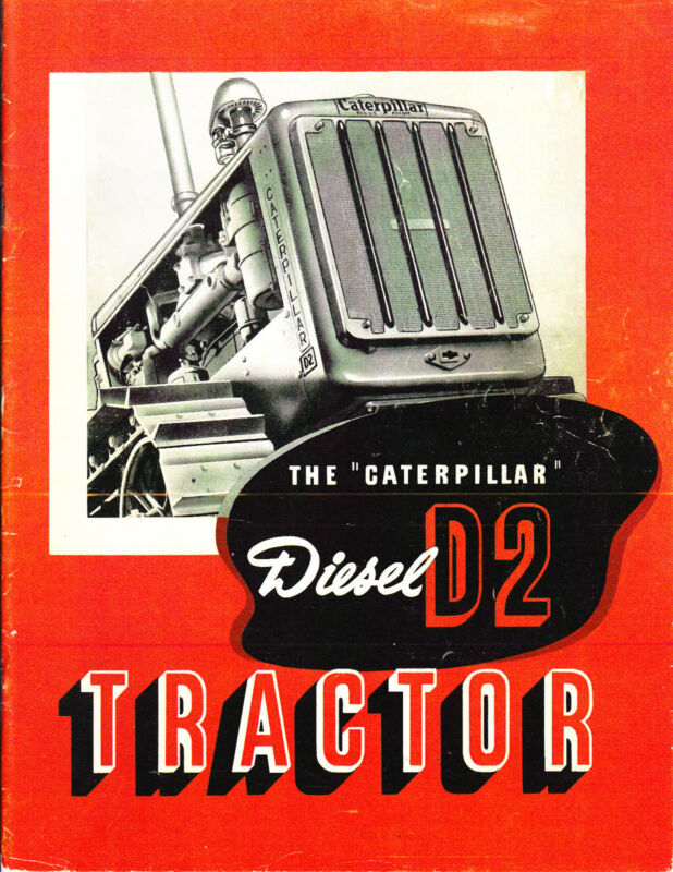 CaTeRPiLLaR Diesel D-2 TRACTOR 1938 ad - reprint