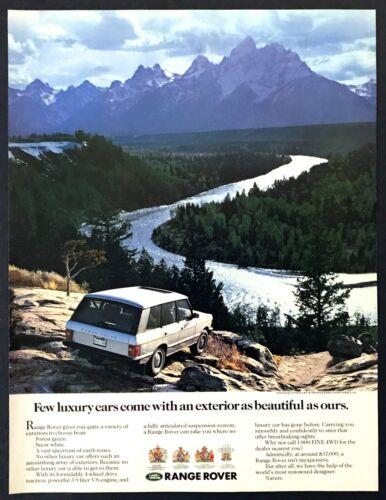 "1989 Land Rover Range Rover photo ""Beautiful Luxury Exterior"" vintage print ad"