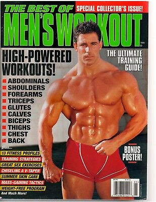 THE BEST OF MEN'S WORKOUT bodybuilding muscle exercise/Pull out Poster (The Best Workout Exercises)