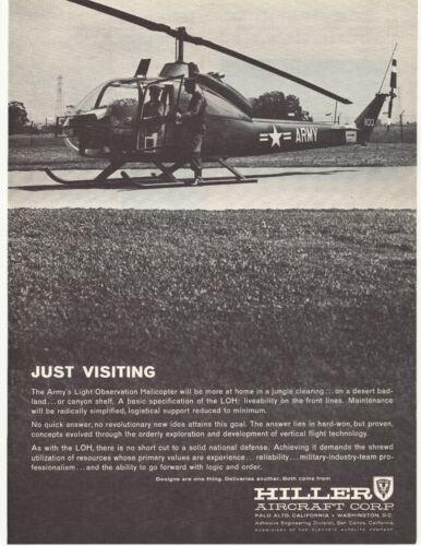 1961 Hiller Aircraft Corp. Advertisement Palo Alto, California