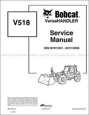 Bobcat V518 Versahandler Revision 2012 Update Printed Service Manual 6901769