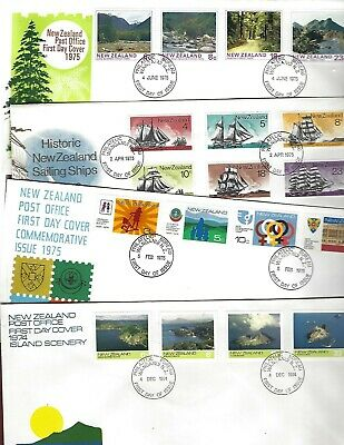 New Zealand sc#563-80 (1974-5) Complete FDC's