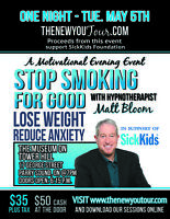 Quit smoking for good! Hypnosis event in town this week!!
