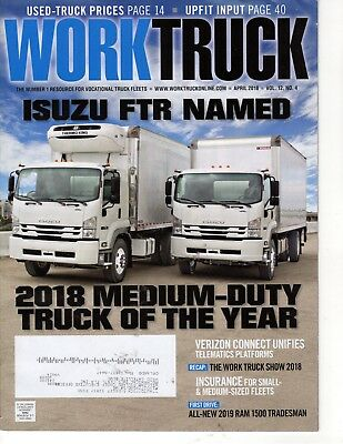 Work Truck Magazine April 2018 for sale  Clermont