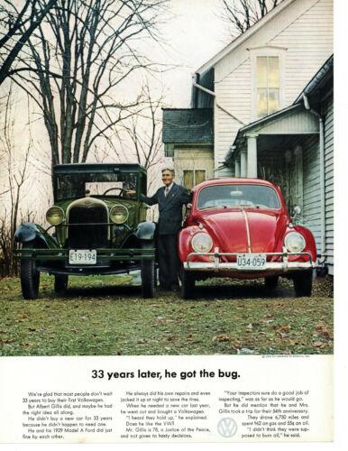 1963 VW VOLKSWAGEN BEETLE ~ ORIGINAL PRINT AD