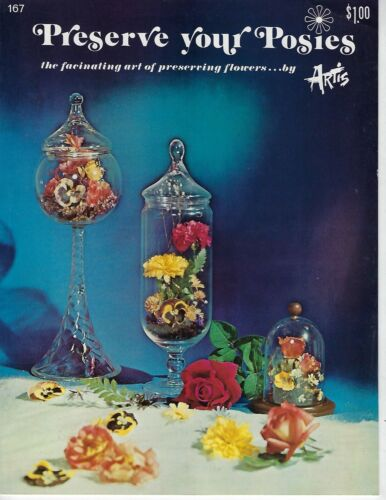Preserve Your Posies Vintage How to Dry Flowers Guide Craft Instruction Book