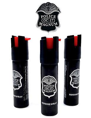 3 Police Magnum pepper spray .75oz unit safety lock self defense protection