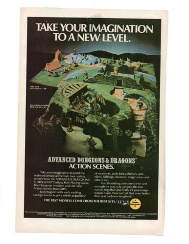 1982 Advanced Dungeon & Dragons Action Scenes MPC Model Kits AD&D Advertisement