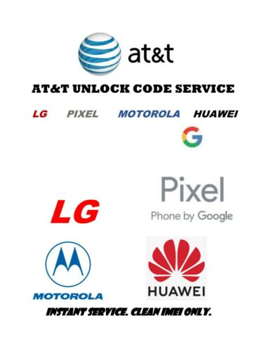 AT&T USA Network Unlock Code for LG Motorola Google Pixel Clean IMEIs only