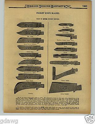 1929 PAPER AD 26 PG OVB Our Very Best Pocket Knife Knives Hibbard Spencer