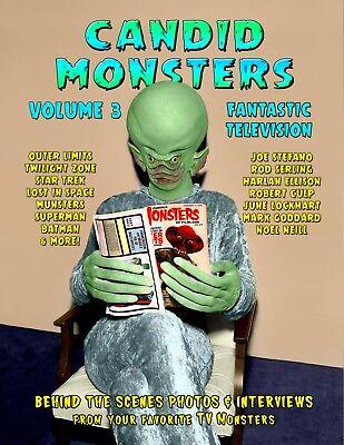 CANDID MONSTERS Vol 3 FANTASTIC TELEVISION Book 100 Photos OUTER LIMITS Batman