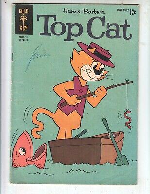 Top Cat 4 GVG (3.0) 10/62 Gold Key! Great TV cartoon comic!
