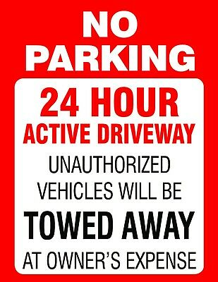 No Parking Tow Away Signs Corrugated Plastic 8.5x11