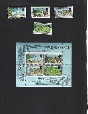 Montserrat sc#248-51 #251a Souvenir Sheet (1970) Complete MNH