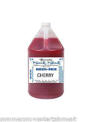 Snow Cone Syrup Cherry Flavor. 1 Gallon Jug Buy Direct Licensed Mfg