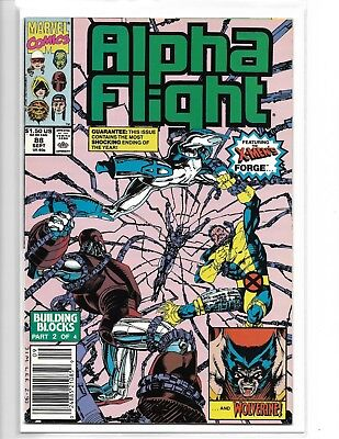 ALPHA FLIGHT #88 JIM LEE WOLVERINE UPC BARCODE