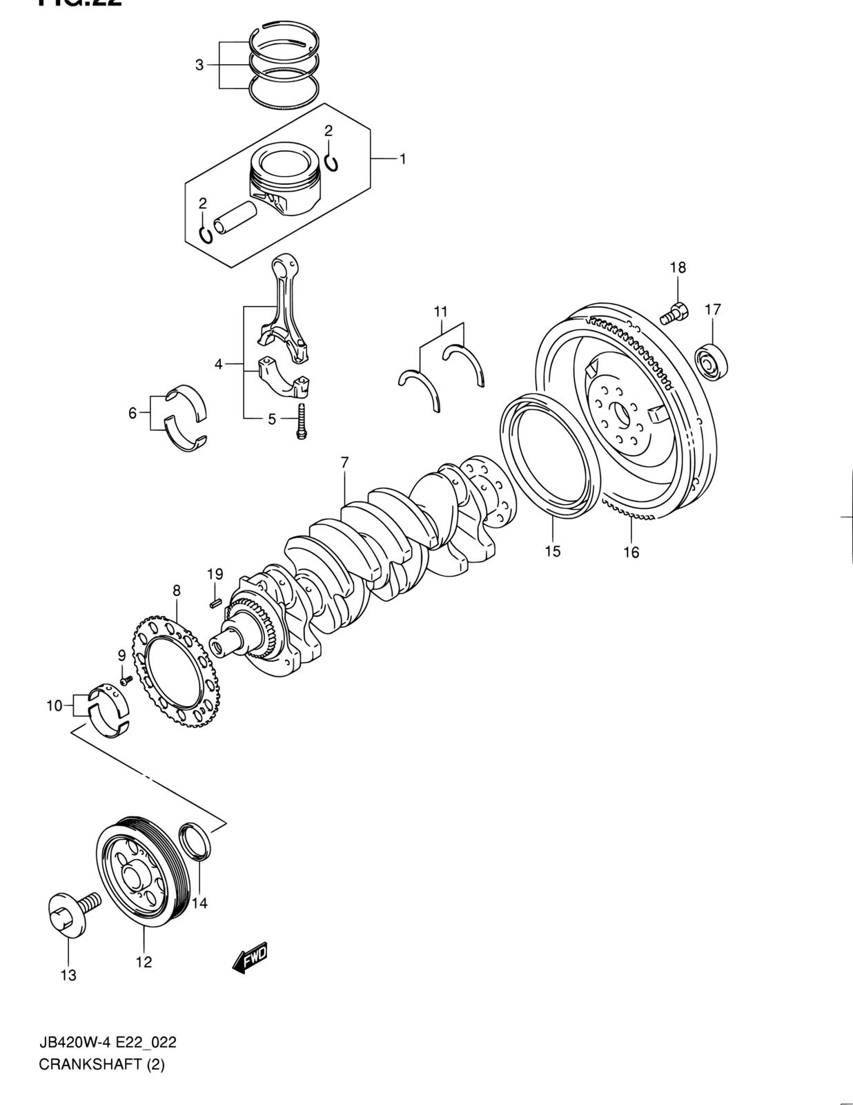 Crankshaft Pulley for Suzuki Grand Vitara 2009-2013 2.4L