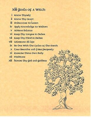 Book of Shadows Spell Pages ** 13 Goals of a Witch ** Wicca Witchcraft BOS - Witches Spell Book