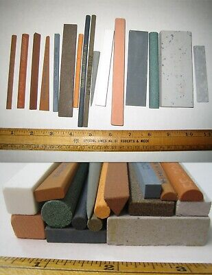 """Norton 61463687425  5/""""X1/""""X3//16/"""" Fine Grit India Reamer Stone Sold As 1 Each"""