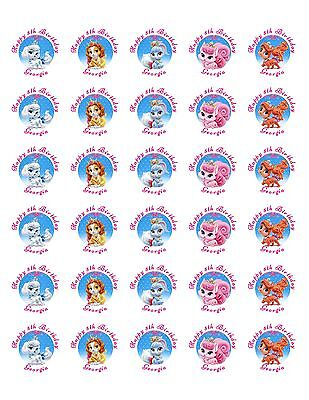 30 Palace Pets Birthday Stickers Lollipop Labels Party Favors 1.5 in ANY VARIETY - Palace Pets Birthday Party