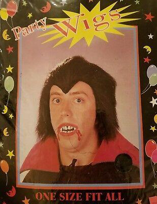 Vampire Doctor Halloween (🔥Halloween / Cosplay Black Vampire type party wig, OSFA,)