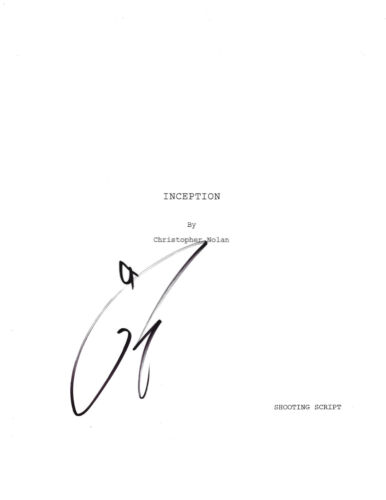 TOM HARDY SIGNED AUTHENTIC AUTOGRAPH 'INCEPTION' FULL MOVIE SCRIPT w/COA ACTOR