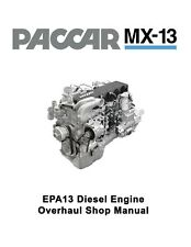 Paccar MX-13 EPA13 Diesel Engine Overhaul Shop Service