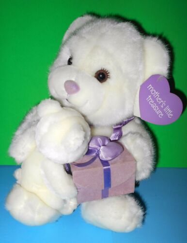 Baby Bear n Mama Velvety Soft Plush Teddy Bears n Gift Box  RBI Ron Banafato 11""