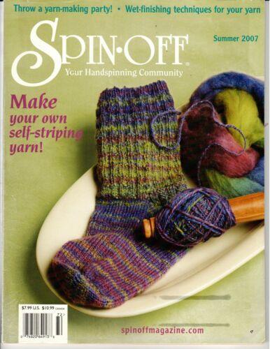 Spin Off magazine Summer 2007 Make self-stripping yarn, A yarn party, Yucca