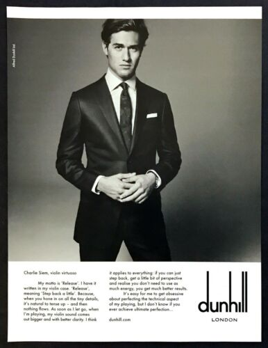 2011 Violinist Virtuoso Charlie Siem photo Dunhill London Mens vintage print ad