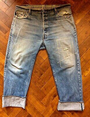 Vintage selvedge Levi's 501 red line 40 waist 31 inside leg men's jean