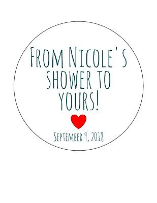 Bridal Shower Favor (Personalized Baby or Bridal Shower stickers/ favor tags. From my shower to)