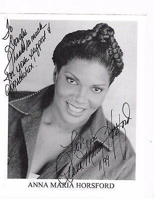 ANNA MARIA HORSFORD Autographed Signed B&W Photo 8x10 + LETTER - FRESH PRINCE