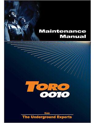 Toro Loader 0010 Maintenance Manual Color Printed Spiral Bound