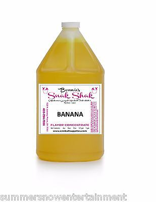 Snow Cone Syrup Banana Flavor. 1 Gallon Jug Buy Direct Licensed Mfg