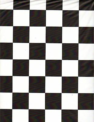 Black and White Checker table cover tablecloth plastic 84