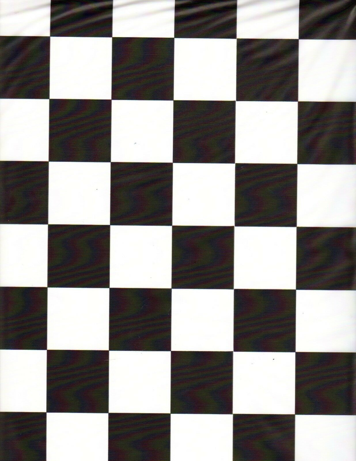 Black and White Checker table cover tablecloth plastic 84""