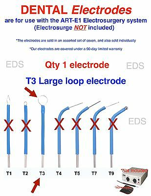 Qty Of 1 T3  Dental Electrode - Use With The Art-e1 Electrosurgery System