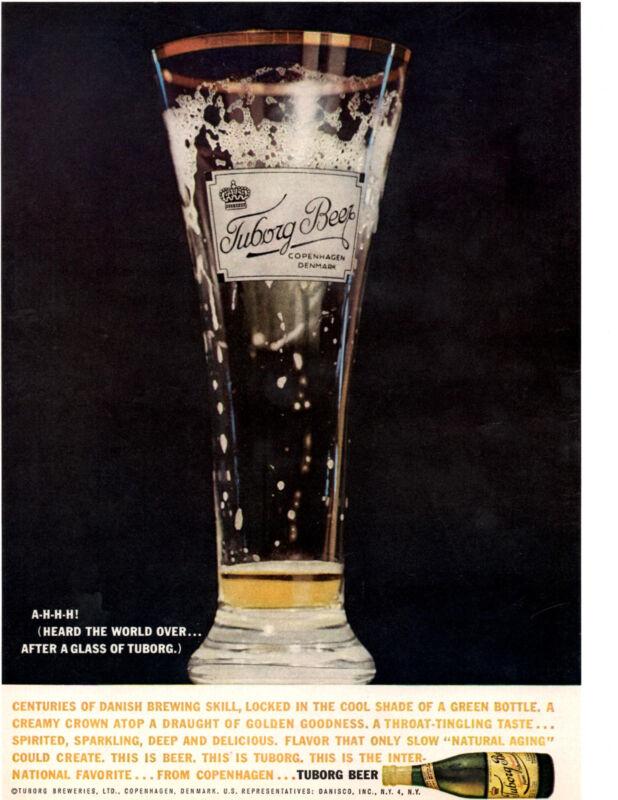 1961 TURBORG BEER ~ ORIGINAL PRINT AD