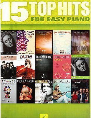 Easy Piano Lyrics - Top Hits Easy Piano Sheet Music Lyrics Guitar Chords Christina Perri, Adele, fun